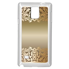 Floral Decoration Samsung Galaxy Note 4 Case (white) by Onesevenart
