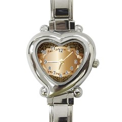 Floral Heart Italian Charm Watch by Onesevenart