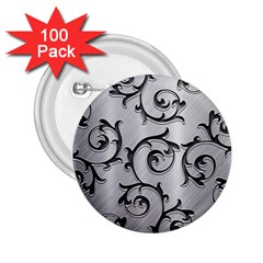 Floral 2 25  Buttons (100 Pack)  by Onesevenart