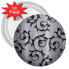 Floral 3  Buttons (10 Pack)  by Onesevenart