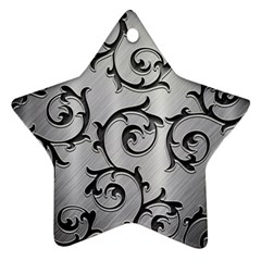 Floral Star Ornament (two Sides) by Onesevenart