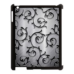 Floral Apple Ipad 3/4 Case (black) by Onesevenart