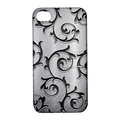 Floral Apple Iphone 4/4s Hardshell Case With Stand by Onesevenart