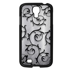 Floral Samsung Galaxy S4 I9500/ I9505 Case (black) by Onesevenart