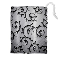 Floral Drawstring Pouches (xxl) by Onesevenart