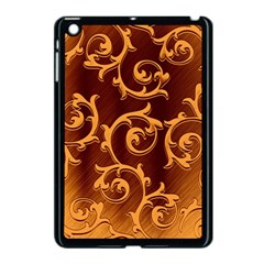 Floral Vintage Apple Ipad Mini Case (black) by Onesevenart