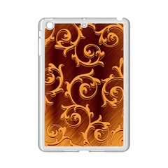 Floral Vintage Ipad Mini 2 Enamel Coated Cases by Onesevenart