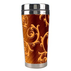 Floral Vintage Stainless Steel Travel Tumblers by Onesevenart