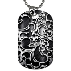 Floral High Contrast Pattern Dog Tag (two Sides) by Onesevenart