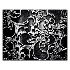 Floral High Contrast Pattern Rectangular Jigsaw Puzzl by Onesevenart
