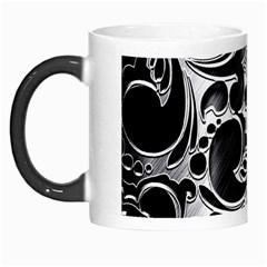 Floral High Contrast Pattern Morph Mugs by Onesevenart