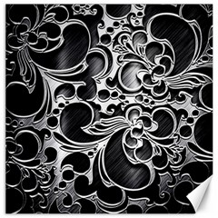 Floral High Contrast Pattern Canvas 16  X 16   by Onesevenart