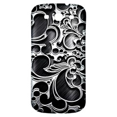 Floral High Contrast Pattern Samsung Galaxy S3 S Iii Classic Hardshell Back Case by Onesevenart