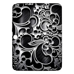 Floral High Contrast Pattern Samsung Galaxy Tab 3 (10 1 ) P5200 Hardshell Case  by Onesevenart