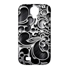 Floral High Contrast Pattern Samsung Galaxy S4 Classic Hardshell Case (pc+silicone) by Onesevenart