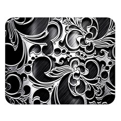 Floral High Contrast Pattern Double Sided Flano Blanket (large)  by Onesevenart