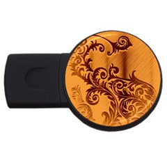 Floral Vintage  Usb Flash Drive Round (2 Gb) by Onesevenart