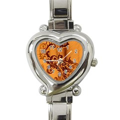 Floral Vintage  Heart Italian Charm Watch by Onesevenart