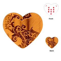 Floral Vintage  Playing Cards (Heart)