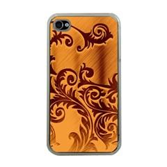 Floral Vintage  Apple Iphone 4 Case (clear) by Onesevenart