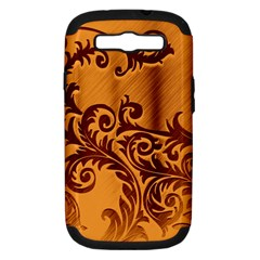 Floral Vintage  Samsung Galaxy S Iii Hardshell Case (pc+silicone) by Onesevenart