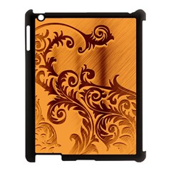 Floral Vintage  Apple Ipad 3/4 Case (black) by Onesevenart