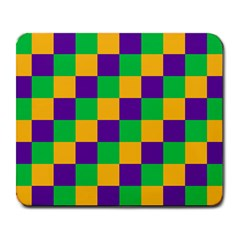Mardi Gras Checkers Large Mousepads by PhotoNOLA