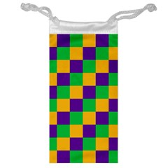 Mardi Gras Checkers Jewelry Bag by PhotoNOLA
