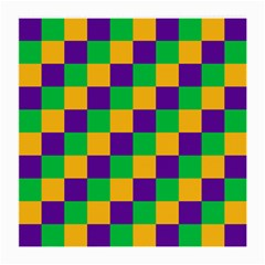 Mardi Gras Checkers Medium Glasses Cloth (2 Side) by PhotoNOLA