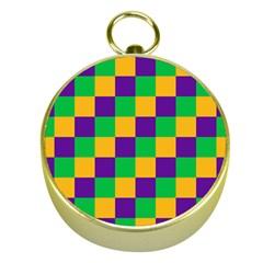 Mardi Gras Checkers Gold Compasses by PhotoNOLA