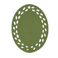 Mardi Gras Checker Boards Oval Filigree Ornament (two Sides) by PhotoNOLA