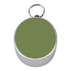 Mardi Gras Checker Boards Mini Silver Compasses by PhotoNOLA
