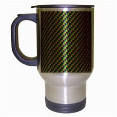 Mardi Gras Checker Boards Travel Mug (silver Gray) by PhotoNOLA