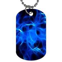 Blue Flame Light Black Dog Tag (two Sides) by Alisyart