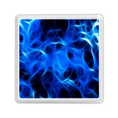 Blue Flame Light Black Memory Card Reader (square)  by Alisyart