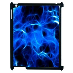 Blue Flame Light Black Apple Ipad 2 Case (black) by Alisyart