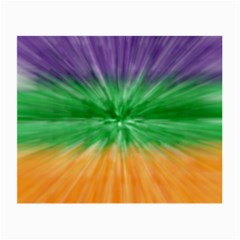 Mardi Gras Tie Die Small Glasses Cloth by PhotoNOLA