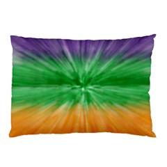 Mardi Gras Tie Die Pillow Case (two Sides) by PhotoNOLA