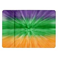 Mardi Gras Tie Die Samsung Galaxy Tab 10 1  P7500 Flip Case by PhotoNOLA