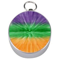 Mardi Gras Tie Die Silver Compasses by PhotoNOLA