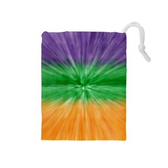 Mardi Gras Tie Die Drawstring Pouches (medium)  by PhotoNOLA