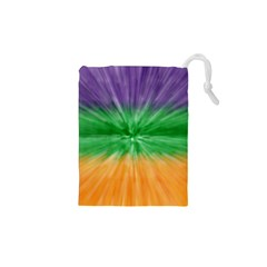Mardi Gras Tie Die Drawstring Pouches (xs)  by PhotoNOLA
