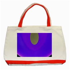 Ceiling Color Magenta Blue Lights Gray Green Purple Oculus Main Moon Light Night Wave Classic Tote Bag (red) by Alisyart