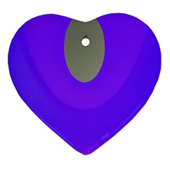 Ceiling Color Magenta Blue Lights Gray Green Purple Oculus Main Moon Light Night Wave Heart Ornament (two Sides) by Alisyart