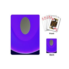 Ceiling Color Magenta Blue Lights Gray Green Purple Oculus Main Moon Light Night Wave Playing Cards (mini)  by Alisyart