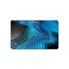 Waves Wave Water Blue Hole Black Magnet (name Card) by Alisyart