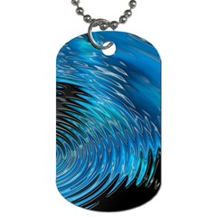 Waves Wave Water Blue Hole Black Dog Tag (two Sides) by Alisyart