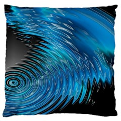 Waves Wave Water Blue Hole Black Large Cushion Case (two Sides) by Alisyart