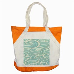 Blue Waves Accent Tote Bag by Alisyart