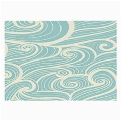 Blue Waves Large Glasses Cloth by Alisyart